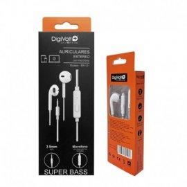 Auriculares con Microfono y Control de Volumen Digivolt Er-121