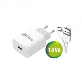 Cargador Digivolt 3.0 de 18w con Cable Tipo C