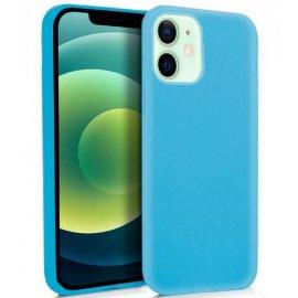 Funda Silicona Iphone 12/ Pro en Azul Celeste