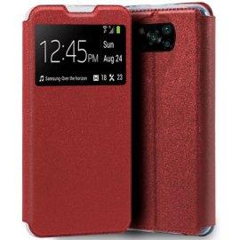 Funda Libro Xiaomi Poco X3 Roja