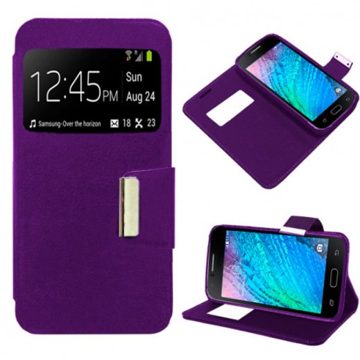 Funda Libro Alcatel Pop 4 Violeta - Foto 1
