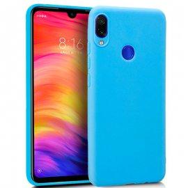Funda Silicona Xiaomi Redmi Note 7 Azul Celeste
