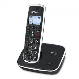 Telefono Dect Negro Inalambrico Amplificado Teclas Grandes Spc Telecom