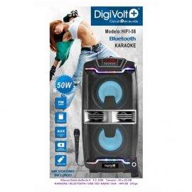 Altavoz Bluetooth Digivolt Hifi-58 con Karaoke