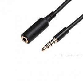 Cable Mini Jack Macho a Hembra 3.5mm 1metro