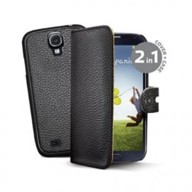Funda Libro Piel Samsung Galaxy S4 Mini 2 en 1 Negro Celly