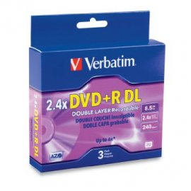 Dvd +r Verbatin 8.5 Gb 2.4