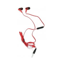Auriculares Mp3 + Microfono Rojo Freestyle Omega
