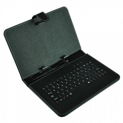 """Funda Tablet 9"""" Polipiel con Teclado Usb Aome Portective Holster - Foto 1"""