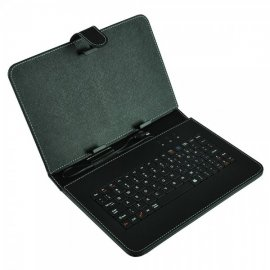 "Funda Tablet 9"" Polipiel con Teclado Usb Aome Portective Holster"