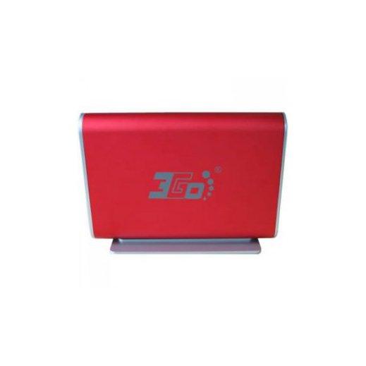 """Caja Dd 3.5""""sata-usb Aluminio Roja 3go - Foto 1"""