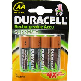 Pila Duracell Recargable Turbo AA 4