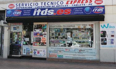 Fachada de la tienda en Murcia