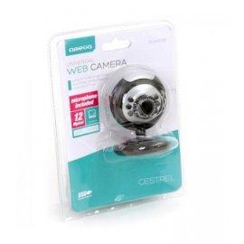 Camara Web Cam C12sb 12mp + Microfono Negro Omega