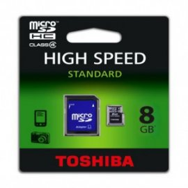 Tarjeta de Memoria Toshiba Flash Micro Sd + Adapt 8gb Negro
