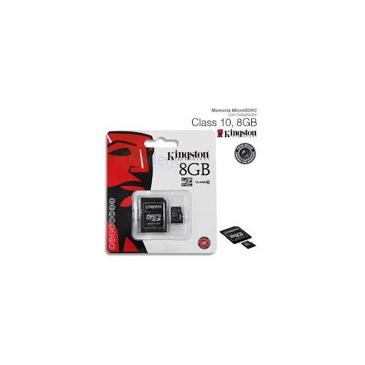 Tarjeta Memoria Micro Sd 8gb Clase 10 + Adaptador Kingston - Foto 1