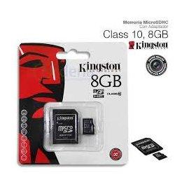 Tarjeta Memoria Micro Sd 8gb Clase 10 + Adaptador Kingston
