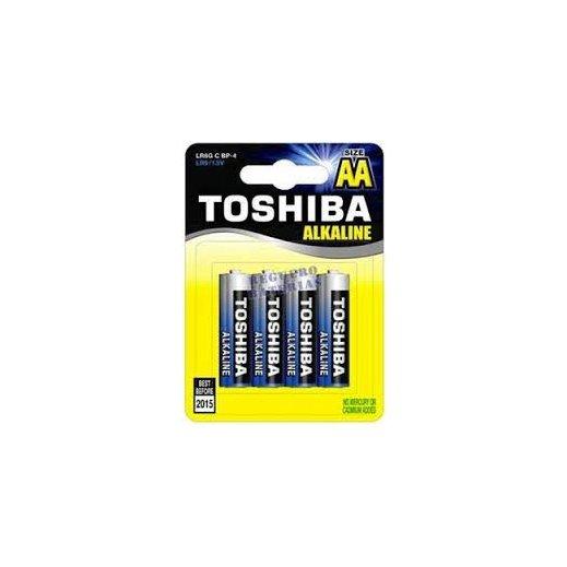 Pila Alcalina Toshiba AA - Foto 1