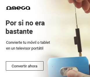 Convierte tu móvil en un TV portátil de la mano de Omega