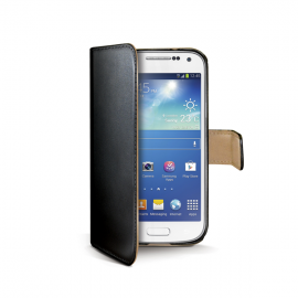 Funda Libro Piel Samsung Galaxy S4 Mini Negra Celly
